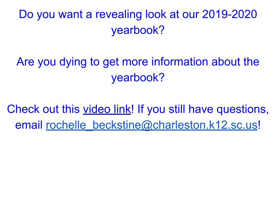 Yearbook Announcement