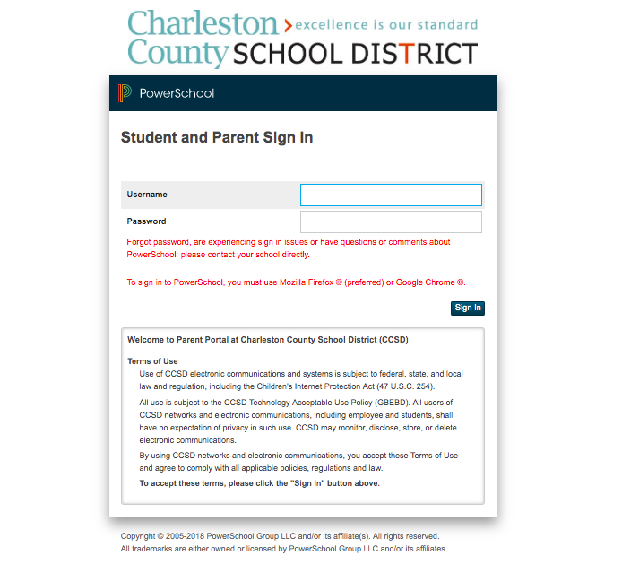 Login to ParentPortal
