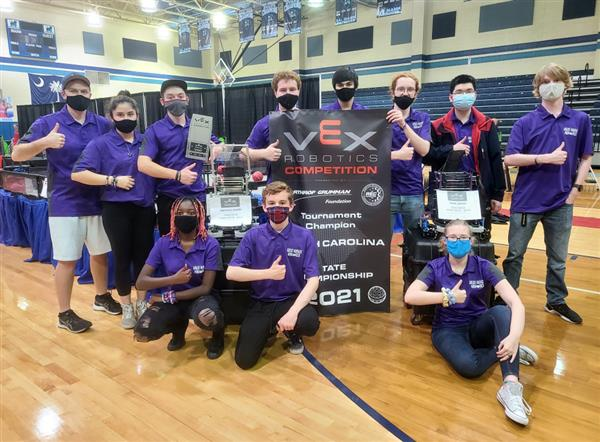 West Ashley High Robotics Team Named Tournament Champions